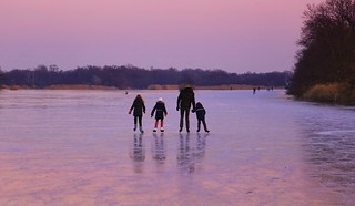 Family skate in Ankeveen