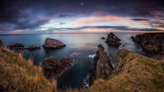 Taking it all in (Augmented Reality Images (Getty Contributor)) Tags: bowfiddlerock canon cliffs clouds landscape leefilters longexposure morayfirth panorama rocks scotland shottencraig sunset water waves