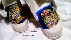 Designer Women Sneakers Dinosaurs (art-store.net) Tags: sneakers womensshoes handpainted modernprint updatedmodel originaldesignmodel