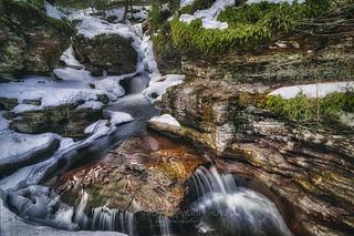 A Snowy Adams Falls, 2017.03.21