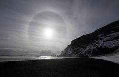 Iceland. (richard.mcmanus.) Tags: iceland icehalo stacks reynisdranger beach sky vik arctic mcmanus landscape explore
