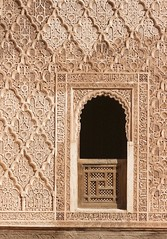 dormitory (diminoc) Tags: window stucco islamicgeometry madrasa madersabenyousef marrakech morocco architecture
