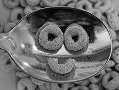 Good Morning (smiles7) Tags: bw happymacromonday hmm cereal breakfast smiles