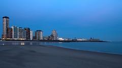 vlissingen Skyline (Rudy vos) Tags: vlissingen skyline beach holland hdr netherlands night nightphotography nightshot canon sea travel coastline