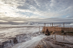 Go with the flow (JustAddVignette) Tags: landscape australia clouds cloudy cloudysunrise early landscapes light monavale newsouthwales northernbeaches ocean rockpool rocks seascape seawater sky sydney water