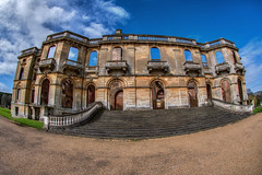 Witley Court (Evoljo) Tags: witleycourt worcestershire ruin englishheritage mansion sky blue clouds gravel nikon d500