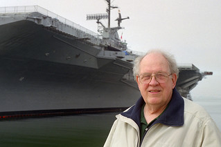 Dad at USS Hornet, 1999