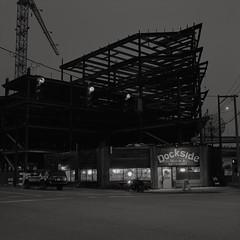 The Dockside Saloon, Portland (austin granger) Tags: docksidesaloon dockside portland oregon development change time topography bar saloon crane girders square film gf670
