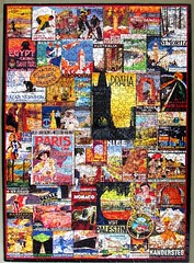 Travel Around the World -Vintage Posters (pefkosmad) Tags: jigsaw puzzle travel poster 1000pieces complete used hobby leisure pastime