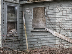 A Little Claeanup Needed (Brian Rome Photography) Tags: urbex urbanexploration travel abandoned explore exploration photograph olympus boarded wondowscovered covered peeling broken
