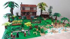 Eastman, Morgan and friends (-JV-) Tags: lego walking dead moc creation bricks rick grimes eastman morgan zombies