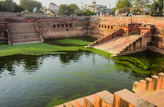IMG_30025-Pano-2 (Manveer Jarosz) Tags: bharat hindustan india mathura uttarpradesh algae ancient architecture city ghat green old outdoors outside public stairs steps town water