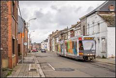 01-04-17 TEC 7404, Anderlues - Rue de la Station (Julian de Bondt) Tags: tec tram metro leger charleroi anderlues
