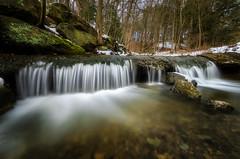 Fall Run Upper Falls (Brad Truxell) Tags: waterfall nature winter snow water longexposure hdr exposureblending dodgeandburn trees creek fallrun fallrunpark sigma1020mm nikond7000
