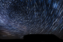 Vortex (Minibert93) Tags: sky startrails glendalough wicklowmountains northstar nightshooting canon