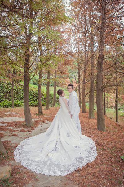 雪白婚紗,手工禮服