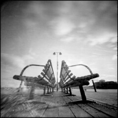 382 apx25 12 (rubbernglue) Tags: ondu pinhole clouds squareformat 6x6 bw blackandwhite bwfp filmphotography agfaapx25 caffenol caffenolchrs stockholm sweden sverige centered filmexif analog vignetting seats lowperspective wide allmycamerasproject
