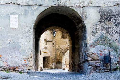 through the city wall