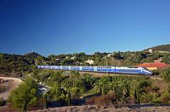 TGV 6172 @ Agay (Wesley van Drongelen) Tags: sncf société societe nationale chemins fer français francais tgv grande vitesse série serie br class type réseau reseau duplex tgvd rd agay trein train zug massif esterel