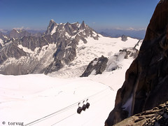 Hot day on Mont Blanc (torvug) Tags: montblanc aiguilledumidi jorasses dentgeant mountains alpes