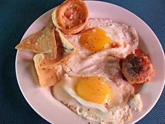 Sunny Side of Breakfast (knightbefore_99) Tags: huevo sunny side up egg breakfast desayuno mexico mexican nayarit rincon guayabitos decameron food tasty tortilla corn cake