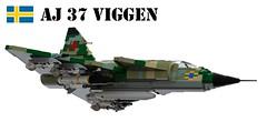 Saab AJ 37 Viggen (Matthew McCall) Tags: lego jet fighter saab sweden swedish cold war aj 37 viggen moc strike attack