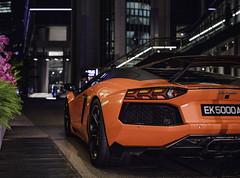 Lamborghini Aventador Rear (hackdragon) Tags: lamborghini aventador orange spoiler supercar singapore fullerton marina bay expensive rich if only had that much money but dont oh well fujifilm gfx 50s 3264mm f4