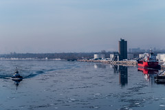 More Montreal (langdon10) Tags: atsea canada canon70d montreal quebec ship shoreline stlawrenceriver tugboat cold nautical outdoors winter
