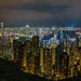 City of Hong Kong from Victoria Peak - Laser Light Show