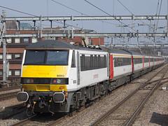 GA 90003 Romford LON_376 (Stuart's Transport) Tags: greateranglia abellio aga london train electric uk class90 loco locomotive 90003 romford ga
