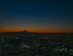mount fuji at dusk (Roger Foo) Tags: dusk japan mountfuji skytree tokyo winter