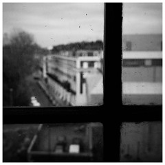 Window // April 2017 // London (catskinroyale) Tags: x100 fujifilm fuji march blackandwhite monochrome depth wood pane museum glass street london window