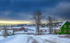 L'Anse à Beaufils (vamp8888) Tags: winter gaspesie road village anseàbeaufils quebec canada neige hiver scenery house sunrise lever soleil canon 6d