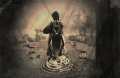 Memories of Springs Past (Isis Boa Desmoulins) Tags: expression secondlife sepia aged