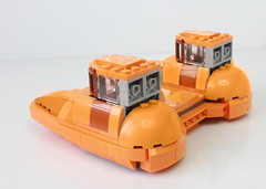 Lego Twin Pod Cloud Car (with instructions) (hachiroku24) Tags: lego twin pod cloud car star wars moc empire strikes back spaceship afol