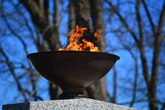 An Eternal Flame (radargeek) Tags: pa pennsylvania flame eternal masonicvillage veteransgrove