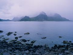Cloudy Fiord (JaZ99wro) Tags: e100g e6 f0325 fiord mamiya645protl norway norwegia opticfilm120 tetenal3bathkit analog clouds exif4film film water