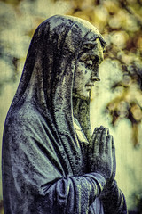 Prayerful (joegeraci364) Tags: altered art artistic calm digital image manipulation peace photo photograph portrait print sculpture solemn statuary statue stone memorial cemetery gravesite topazlabs prayer religious