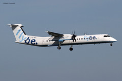 Flybe (BE/BEE) / Bombardier Dash 8-Q402 / G-JECI / 03-26-2017 / LHR (Mohit Purswani) Tags: gjeci bombardier dash8 dash8q400 q400 bombardierdash8 turboprop landing arrival flybe finalapproach 09l london england uk unitedkingdom britain airlines aircraft aviation planes civilaviation commercialaviation ahkgap ahkgapworldwide airlinersnet jetphotos jetphotosnet narrowbody narrowbodyaircraft be bee lhr egll heathrow londonheathrow heathrowairport europe