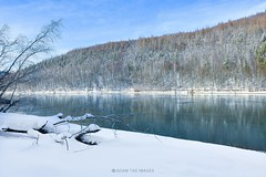 Starina reservoir in winter