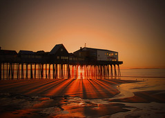 Shining through me (Patricia McAtee - Photos of Maine) Tags: morning sunrise sunlight pier ocean beach serene quiettimes