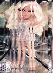 My Body (alexbabs1) Tags: bratz dolls disco passion 4 fashion cloe wave 2 spring 2007 tan blonde cunt glam vibes paris hilton vintage 1970s 2000s ooak farrah crystal mini dress club ball sarah palins bangs