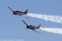 Trojans Turning Final (Douglas Bawden Photography) Tags: northamericant28trojan aviationnation2016 aircraft airplane propjob trojan canoneos6d canonef70200mmf40lusm canon14xextender roundmotor