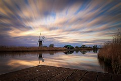 Thurne Windmill (simondunn) Tags: norfolk broards river thurne dyke sunset clouds water calm long canon canon6d 10stop 24105mm lseries landscape colour jetty