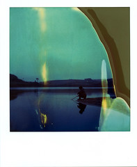 (Matt Chalky Smith) Tags: roidweek sx70 polaroid loebar flames tz timezero lake water reflection
