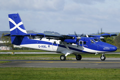 G-HIAL Loganair 'Transport Scotland' De Havilland Twin Otter at Glasgow on 22 April 2017 (Zone 49 Photography) Tags: glasgow egpf gla april 2017 de havilland canada dhc dhc6 twin otter loganair log lc tranposrt scotland ghial