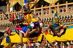 Nimalung-Tsechu-Festival (naturalholidaysindia) Tags: punakha dromche tsechu festival buddhist monks bhutan dzong jumping