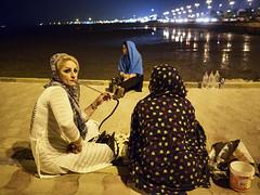 hubba bubba (Mark Panszky) Tags: hubbabubba shisha sheesha nargila waterpipe hookah women smoking iran seaside beach qalyoon bandarabbas