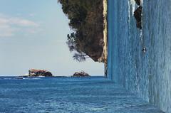 Manuel Antonio (andreannelupien) Tags: costarica water ocean rocks sky landscape geometry summer blue teal sand sands photography imagine imagination creativity surreal surrealist surrealism creativeartphotography