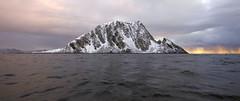 Should absolutely be called Sleeping Dragon Island (Snemann) Tags: islands pentaxk5 sigma1020 tromsø april atsea nature snow rocks coastlines coast colours